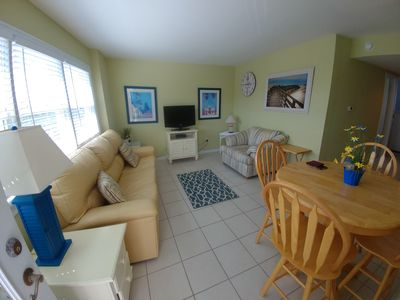 Photo for One block from beach! Clean 2 Bedroom Condo perfect for families!