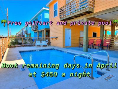 Photo for Tequila Sunrise: PRIVATE POOL,*FREE Golf Cart, Close to the Beach, Outdoor TV