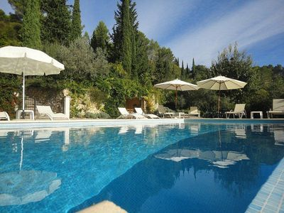Photo for Secluded villa with heated infinity pool stunning views. Cannes 30mins