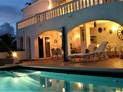 Photo for Holiday villa for 2 people, private pool, sea-views, air condition, internet