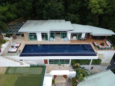 Photo for Parinda  - Awesome seaview private pool villa. Basketball, foosball, ping pong, gym!