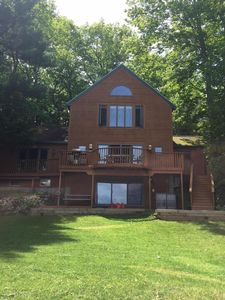 Photo for Beautiful, large waterfront home on Little Sebago Lake -- great for families!