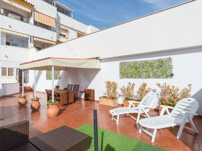 Photo for Spacious Views Pool & Tennis  apartment in Torremolinos with WiFi, air conditioning & private terra…
