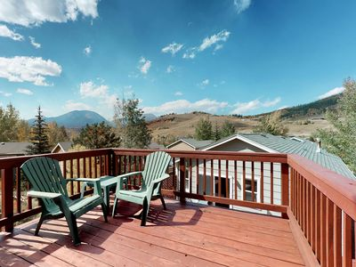 Photo for Mountain view family home w/ private hot tub, deck, grill & steam shower!