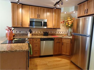 Beautifully Designed Kitchen with all stainless steel appliances.