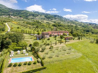 Photo for Superb a/c villa on hill between Florence & Pisa with amazing views & facilities