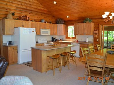 Photo for Family Friendly cabin on the banks of the Betsie River. Near Crystal Mountain.