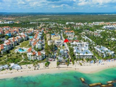 Photo for Beach apart for 8 pax 155 meters very bright and the Bavaro Corals