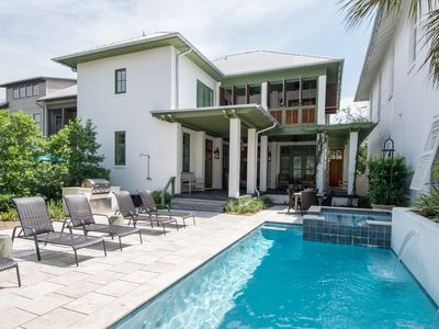 """Photo for ROSEMARY """"BEACH MUSIC"""" 4 Bedrooms w/ Private POOL & Spa. Sleeps 10."""