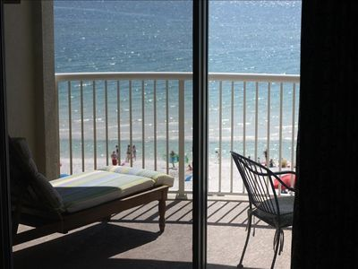 Photo for Cozy, Gulf Front 1BR/2BA - Gorgeous View from Panoramic Balcony