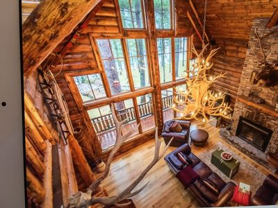 Photo for Crosslake Whitefish Chain 5BR Rustic Log Cabin Retreat - sleeps 13+.