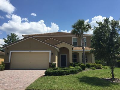 Photo for Beautiful 6 Bedroom Home, 6 Miles from Disney World, South Facing Pool