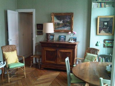 Photo for Charming appt 120 m2 duplex in quiet light courtyard garden Latin Quarter