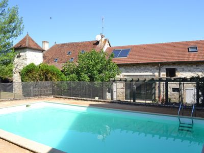 Photo for Traditional stone house with pool, gym and separate 2 bedroom gite