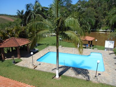 Photo for Beautiful, with lake, pool, volleyball court and football field.