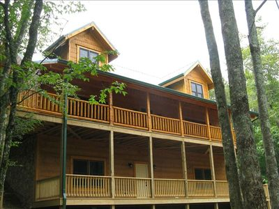 Photo for Charming Log Cabin - Covenient Sugar Mountain Location