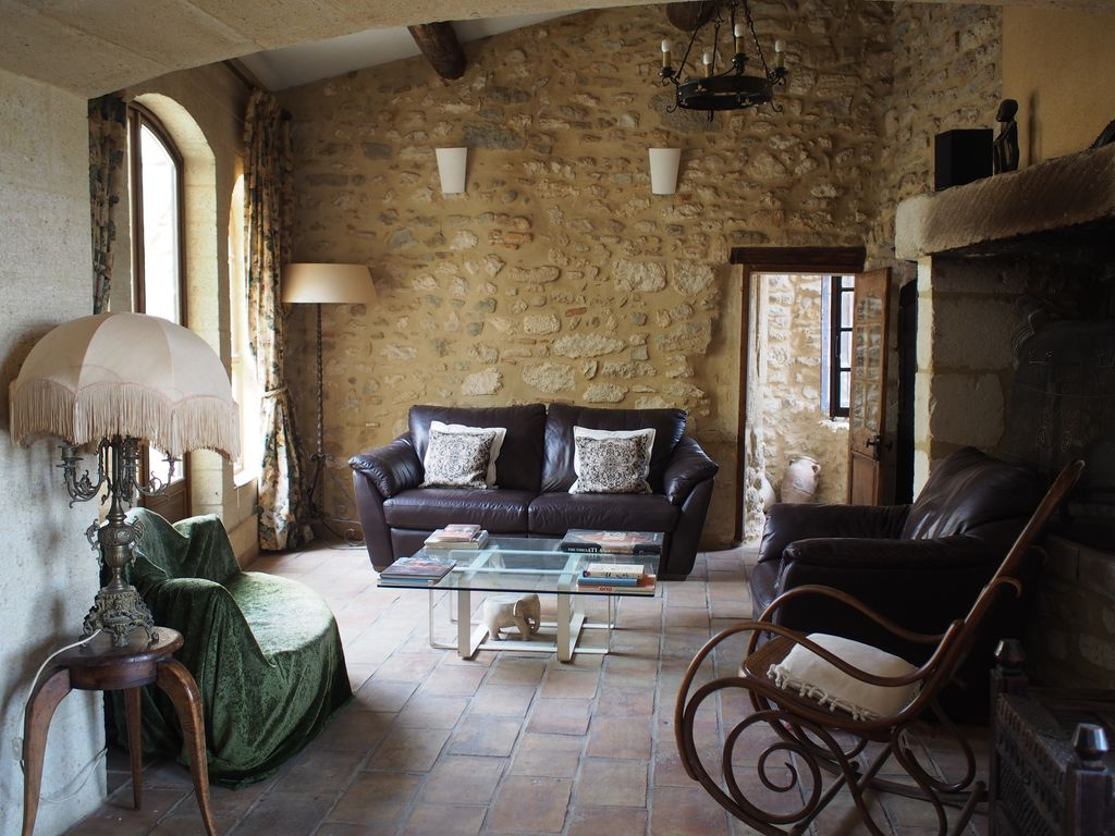 Awesome K Home Design Nimes Part - 3: Fournès House Rental - Comfortable Lounge, Opening To Terrace