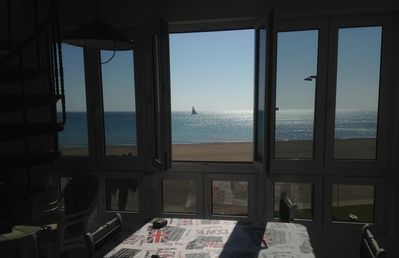 Photo for 1st LINE WITH SEA VIEWS, SWIMMING POOL next to the BEACH with AIR CONDITIONING and WIFI