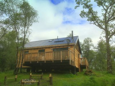 Photo for Flora is a Well equipped, Scandinavian style log cabin with wood burning stove