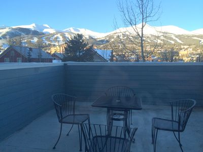 nice view of the ski hill from the  deck