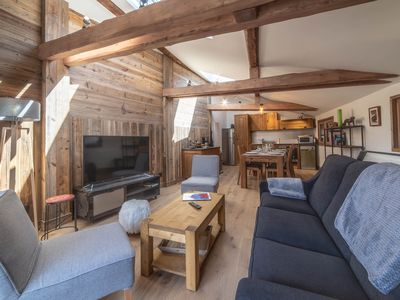 Photo for Kashmir | Beautiful New Chalet | in Le Praz Center | 250m from the cabin