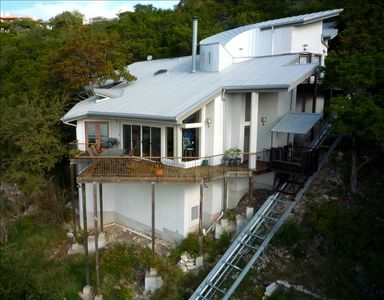 The house as seen from a remote control helicopter.  The only way to get a pic!