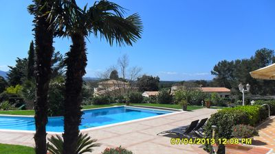 Photo for Luxury apartment in villa with heated pool, wifi, air conditioning