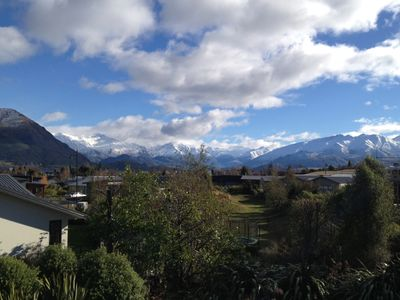 Photo for Stunning mountain views, sun soaked, quiet location close to Lake Wanaka