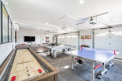 Never run out of fun!   Shuffleboard, table tennis,  pool,  and ping-pong!