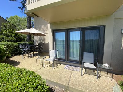 Photo for Cozy 2 bedroom with a gorgeous golf course view, 5 minute walk to the beach