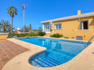 Photo for 5 bedroom Villa, sleeps 8 with Pool, Air Con, FREE WiFi and Walk to Shops