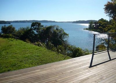 Front Deck, Front Lawn and Lake View