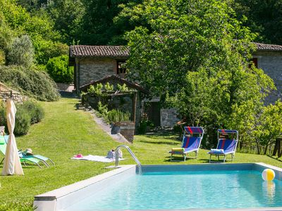 Photo for Romantic water mill home in Tuscany, private pool, private waterfall and Wi-Fi