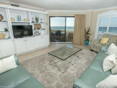 Photo for Inlet Reef 102 is a large 2 BR on the Gulf with free beach set up for 2 in season