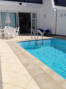 Photo for Stunning three bedroom seafront property with private pool, aircon and wifi