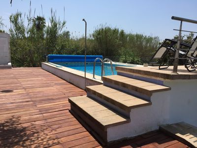 Photo for Villa with heated private pool moutain view close to the beach
