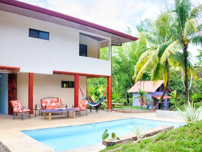 Photo for NEW LISTING! Four-apartment jungle lodge w/saltwater pool, terrace & views