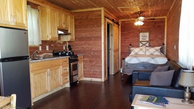 Photo for Cozy  new cabin with all you need, beautiful lake view near Buzzard marina.