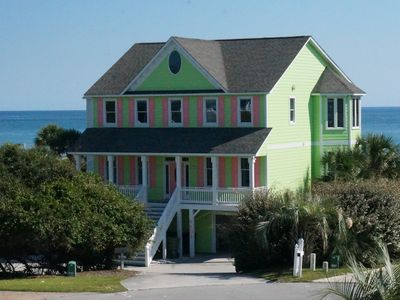 Photo for Large Oceanfront Home, Dog Friendly w/Pool in Spinnaker's Reach.