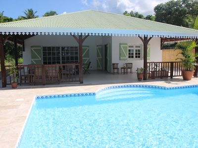 Photo for Villa / pool, 3 air conditioned bedrooms, 30m from the beach, shops on foot