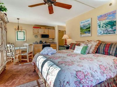Photo for Cute studio condo with Mountain views, on-site outdoor pool & hot tubs!