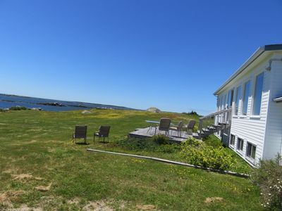 Outdoor living by the ocean at Oceans Playground Cottage in Bear Point, Nova Scotia