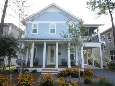 """Photo for New 4 Bed, 3.5 Bath House off 30A """"Summertime Blues"""" - Sleeps 10, Pool-adjacent"""