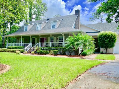 Our secluded home is on an acre of land in a quiet neighborhood.