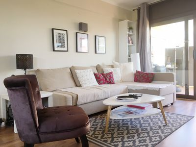 Photo for Platja d'Aro Large renovated apartment, 2 bedrooms 100 m from the beach & commerce