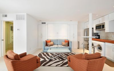 Living Area - Welcome to Austin! This studio apartment is professionally managed by Turnkey Vacation Rentals.
