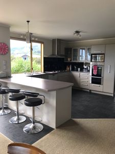 Well equiped spacious kitchen