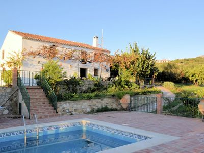 Photo for Authentic farmhouse with private swimming pool situated among olive trees
