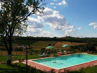 Photo for Apartment In Farmhouse With Pool In Tuscan Countryside