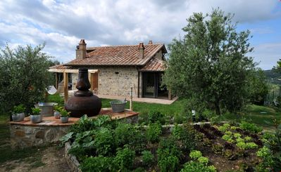 Photo for Wonderful private villa with hot tub, sauna, WIFI, private pool, TV, patio, close to Montalcino